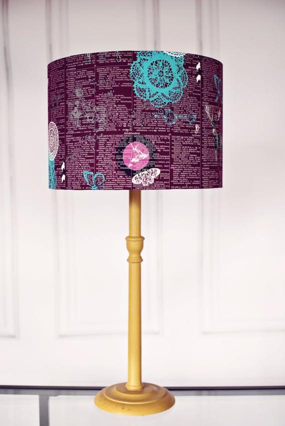 Purple Lamp Shade Woodland Lamp Shade Purple Home Decor Deer Lampshade Stag Lampshade Plum Decor Purple Bedroom Decor Plum Bedroom