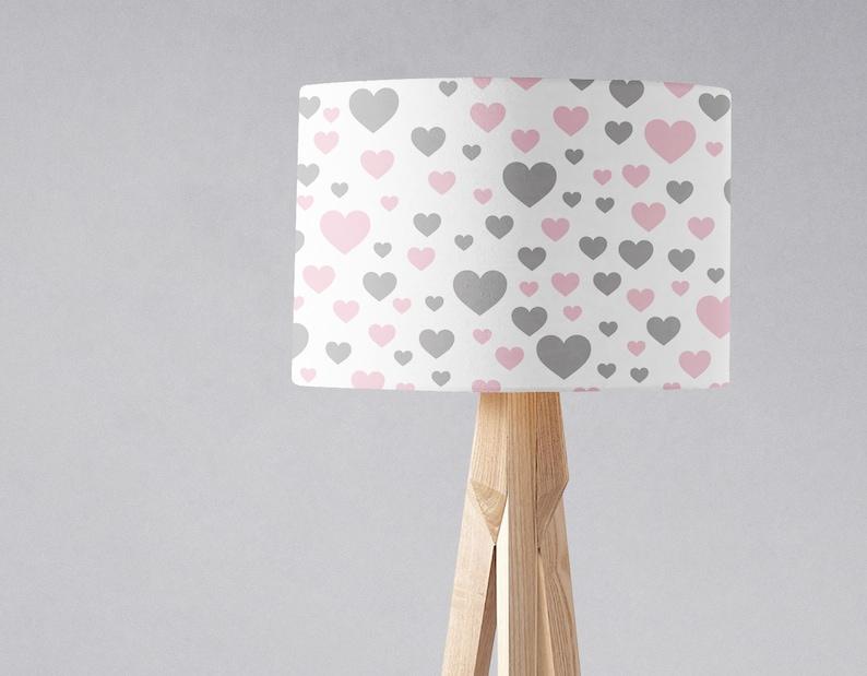 Kinderkamer Lamp Roze : Hart lampenkap de slaapkamer van hart roze en grijs etsy