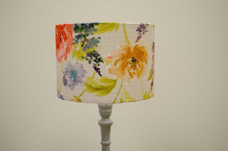 Floral Light Shade Bird Lampshade Drum 2 Diameter Sizes Lampshade Watercolour Lampshade