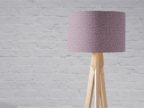 Mauve lampshade, Purple lamp shade, mauve home decor, Memphis style, Large lampshade floor lamp, Small lampshade, Harp fitting lampshade