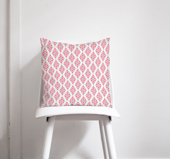 Pink cushion, Pink nursery decor, Pink bedroom decor, Geometric throw  pillow, Sofa cushion, Throw pillow cover, Pillows, Bedroom accessories