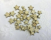 25 pc Wood Veneers Stars ...