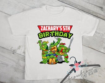 TMNT Birthday Shirt, Teenage Mutant Ninja Turtles Shirt, Birthday Shirt, Boys Birthday Shirt, Personalized Shirt, Custom Birthday Shirt