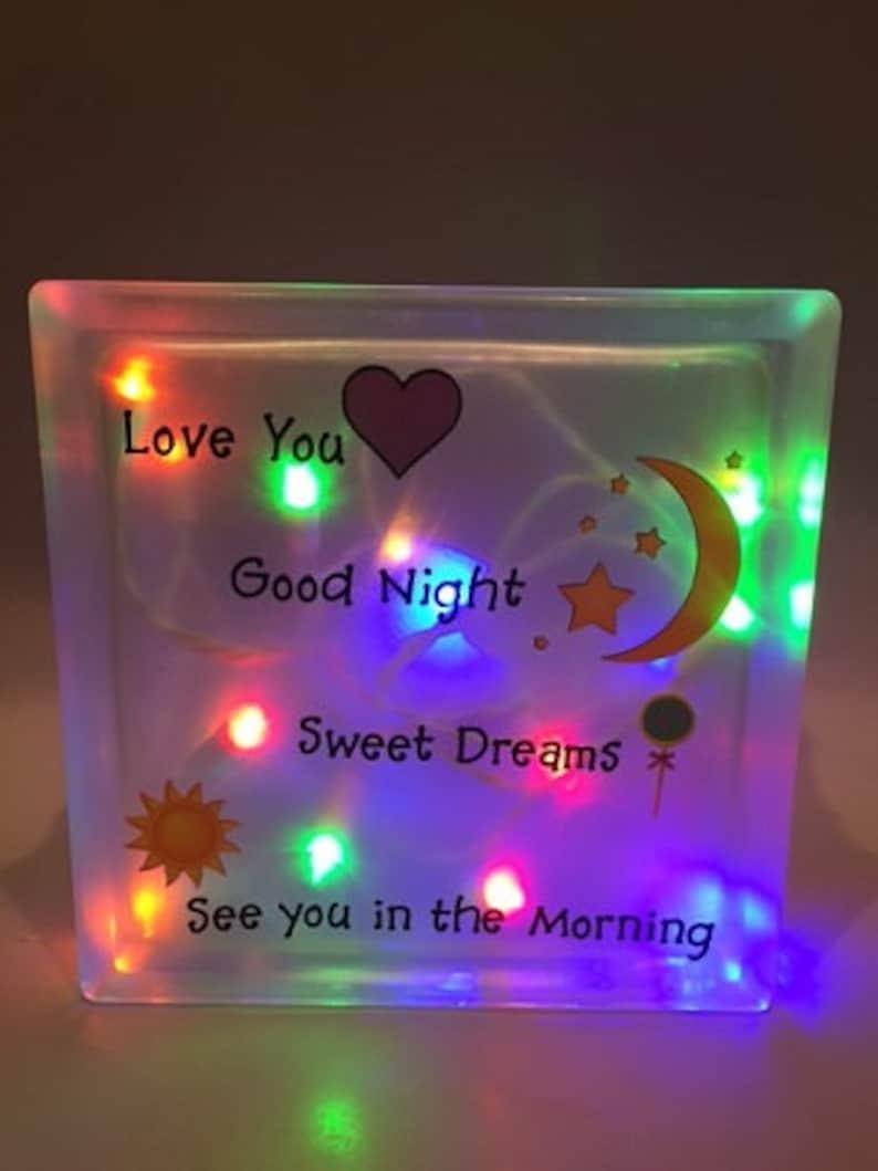 Sweet Dreams Block Night Light Multi