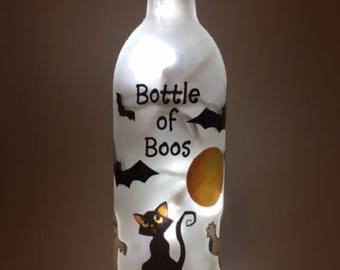 Holiday Wine Bottle Light - Bottle of Boos