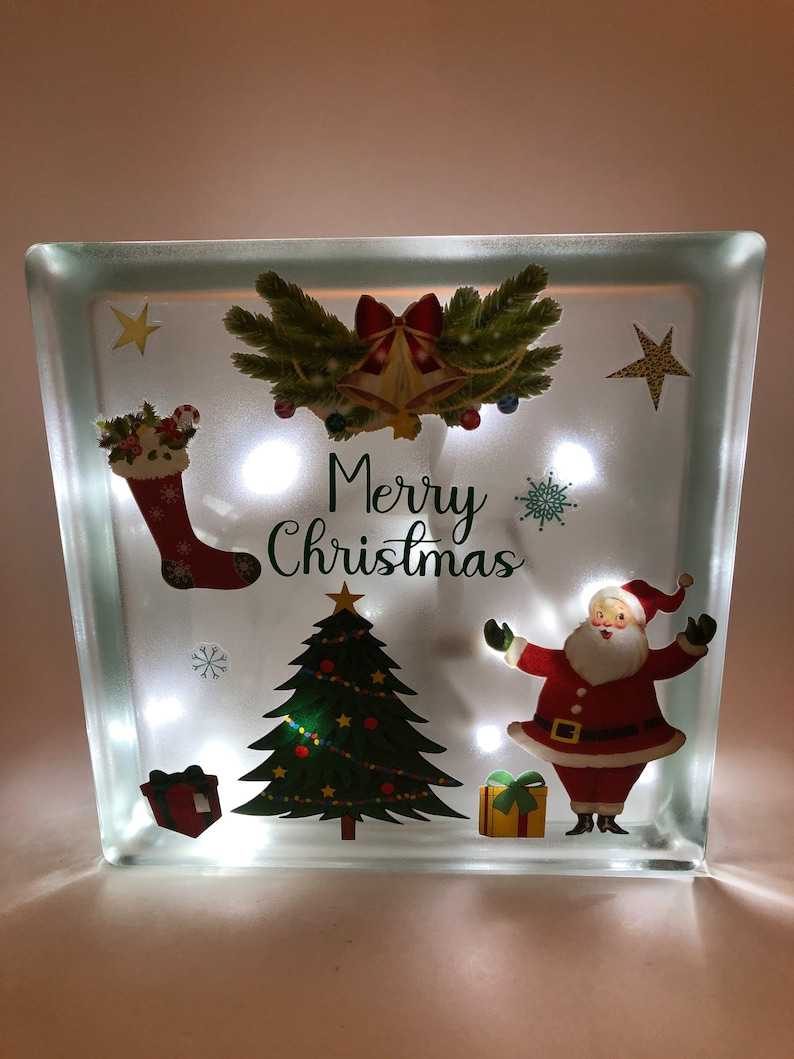 Christmas Block Night Light image 0