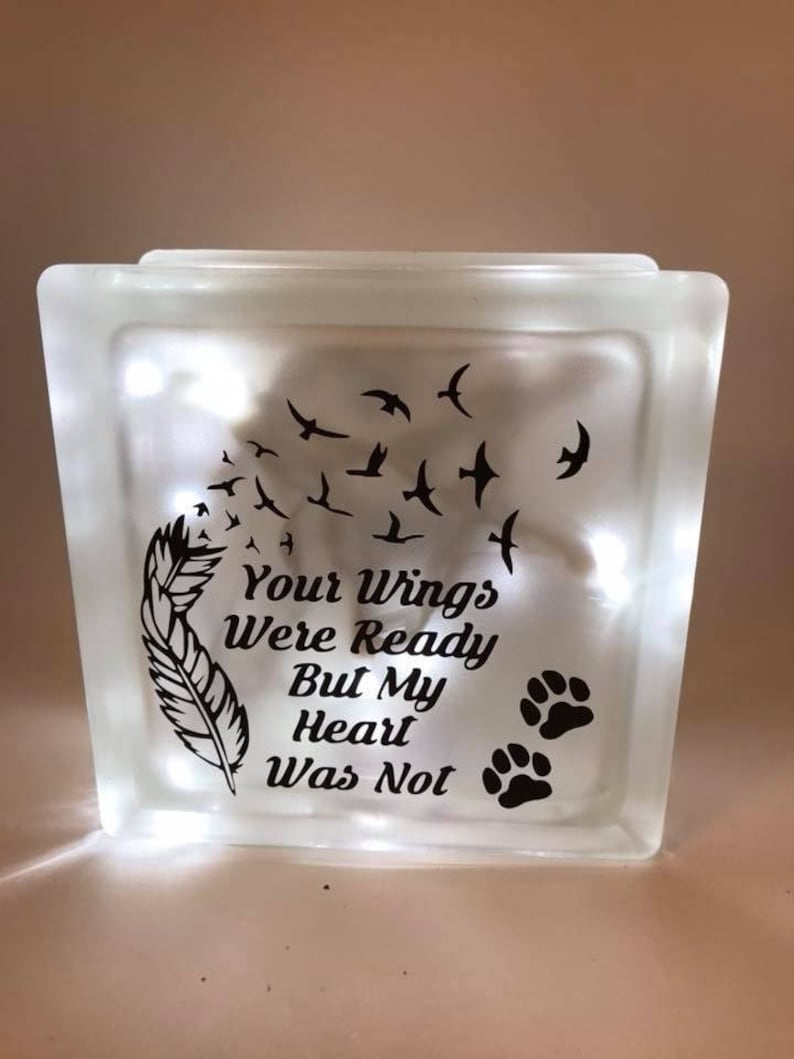 Your Wings Were Ready Block Night Light Clear