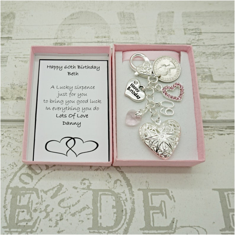 Special Auntie Love You Heart Flower And Butterfly Keyring With Gift Box