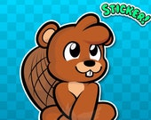 BENSEN the BEAVER STICKER...