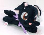 BLACK PUPPY PLUSH | Handmade Plush | ooak Plush | Dog Plush | Labrador Plush | Black Lab Plush | Bean Bag Plush | Beanie Plushie