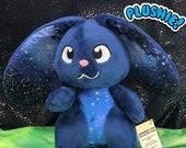 GALAXY BUNNY PLUSH | Flop Bunny | Rabbit Plush | Lop Bunny | Lop Rabbit | Custom Plush | Galaxy Plush | Bunny Plushie |