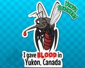 MOSQUITO STICKER | Yukon Sticker | Yukon Flag | Yukon Decal | Yukon Territory | Yukon Canada | Insect Sticker | Bug Sticker | Funny Sticker