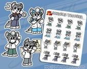 WOLF JOB Planner Stickers...