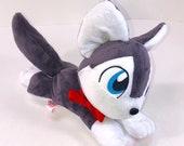HUSKY PUPPY PLUSH | Handmade Plush | ooak Plush | Dog Plush | Husky Plush | Husky Plushie | Husky Puppy Plush | Beanie Plushie | Husky Doll