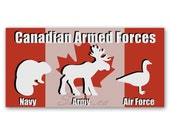 BUMPER STICKER Armed Forc...
