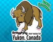 BISON STICKER | Bison Decal | Yukon Sticker | Yukon Decal | Yukon Territory | Yukon Canada | Canada sticker  Buffalo Sticker Buffalo Sticker