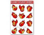 STICKER SHEET Cinder the ...