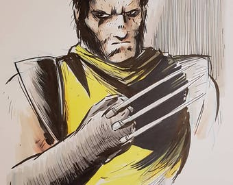 Wolverine original artwork