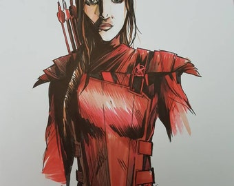 Hunger Games Katniss original drawing