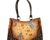 Sahara Dusk Hand Painted Genuine Leather Bag