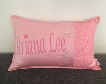 Pale Pink Personalised Cushion - Made to Order