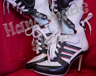 b1929ddf5db208 Custom made - Harley Quinn suicide squad boots - Cosplay Hand Made