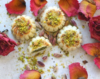 Marzipan filled with Turkish Pistachio Paste- 12 pcs, all natural, made from scratch, handmade, gluten & dairy Free