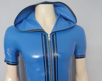 "Ready-to-wear latex shirt ""Zip Hoodie"" by Maniac Latex"