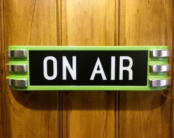 Lightup ON-AIR Recording Sign metallic green chrome claw style TRACKING Delivery