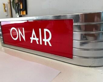 On Air Art Deco rca faux chrome studio warning light Full Bezel....BEST SELLER..... Tracking Delivery