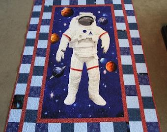 Twin astronaut quilt