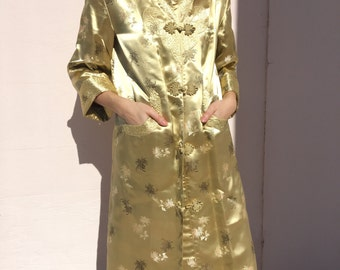 Vintage 100% Silk Brocade Chinese Jacket
