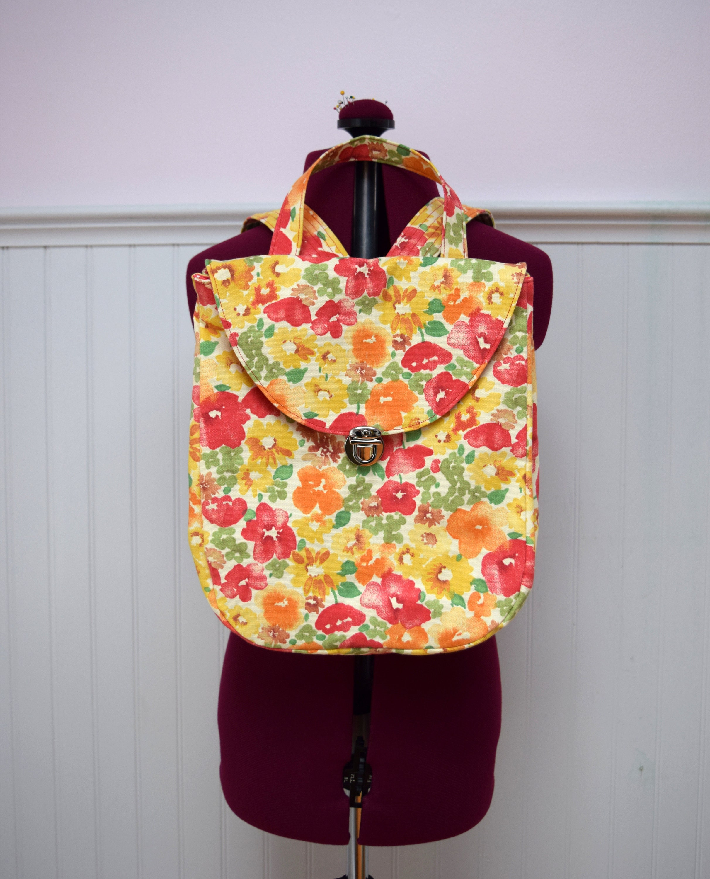 Floral Mini Backpack Purse - Swiss Paralympic