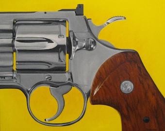 Acrylic Painting - Revolver Yellow