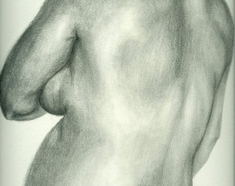 Pencil Drawing, Expecting Mother