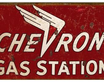 Chevron gas signs | Etsy