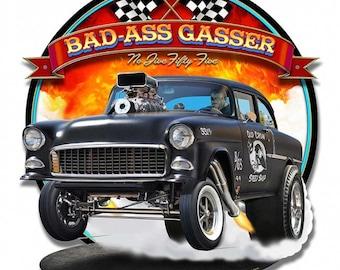 BAD ASS GERMAN Custom License Plate Emblem Version