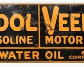 Tydol Veedol Aged Style, 2 Sizes, 24 Gauge Metal Sign, USA Made Vintage Style Retro Garage Art RG4396L RG