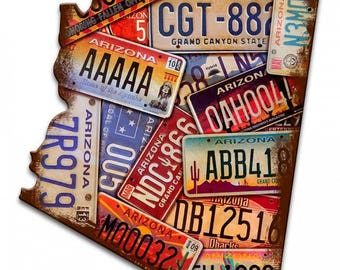 Arizona Centennial Dbacks Metal Novelty License Plate