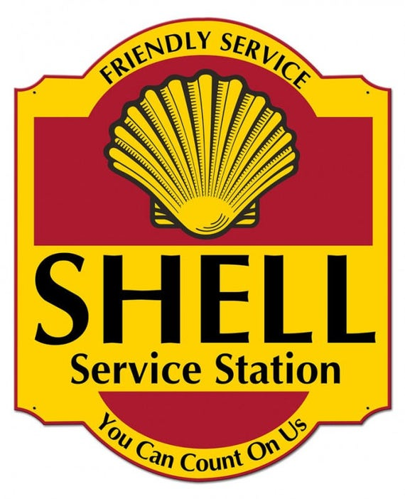 SHELL MOTOR OIL /& GASOLINE VINTAGE Style METAL Gas Pump SIGN Advertise ShipsFree