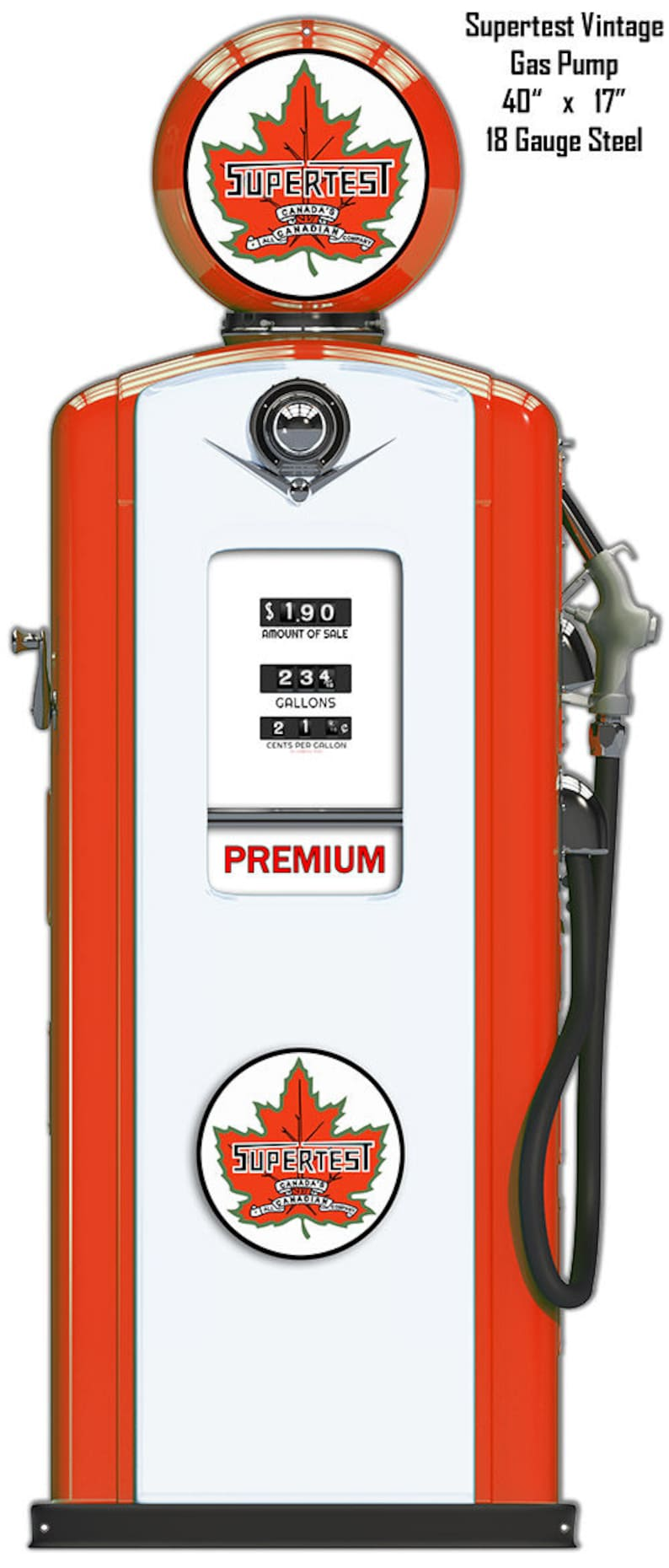 custom shape vintage style retro gas oil garage art wall decor RG 87135 Laser Cutout Metal Sign Supertest Gas Station Pump