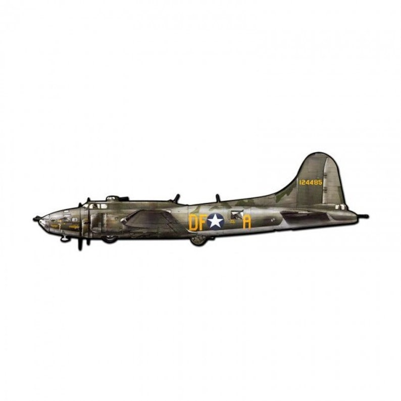 dceff9fbd79 B17 Flying Fortress Fighter Plane Custom Shape Metal Sign 42 x