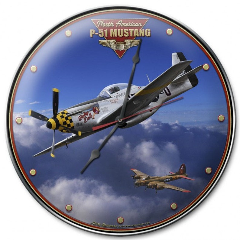 P-51 Mustang Metal Wall Art Decor