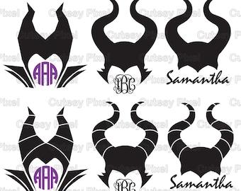 Maleficent Horns Svg Etsy