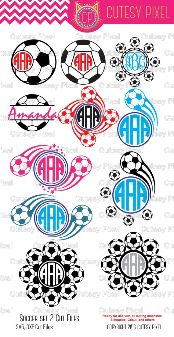 Soccer Monogram Frames Svg cutting filesports svg soccer