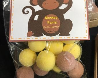 Monkey Farts Bath Bombs- Novelty Kids Gift- kids Bath Bomb- Child