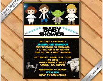 PERSONALIZED Invitation Baby Shower Star Wars