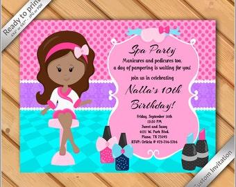 Spa Invitation Etsy