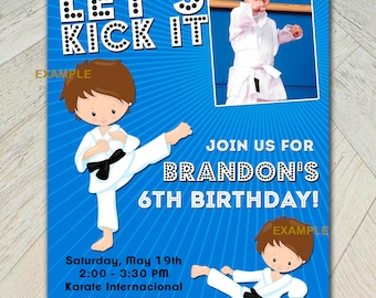 Funny karate party | Etsy