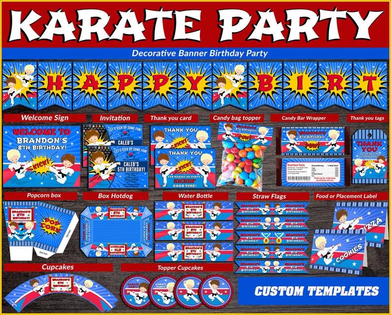 Kit di partito stampabili di karate Taekwondo festa | Etsy